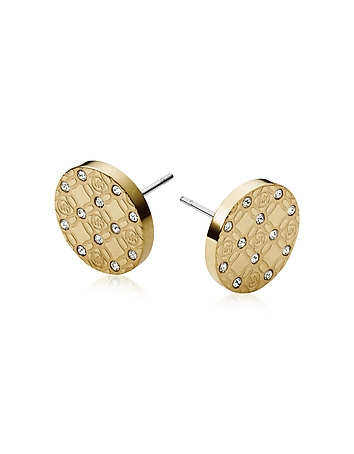 Michael Kors - Heritage Metal Earrings w/Crystals