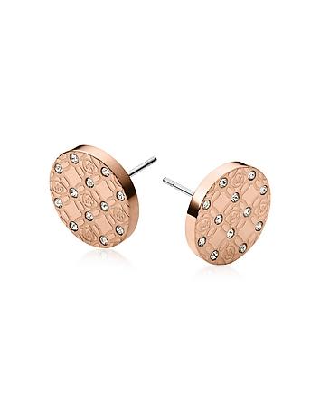 Michael Kors - Heritage Metal Earrings w/Crystals