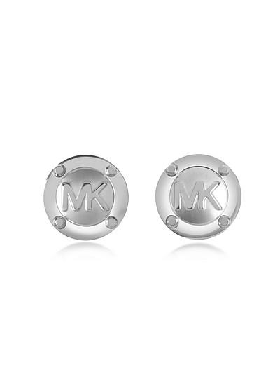Heritage MK Logo Stud Earrings - Michael Kors