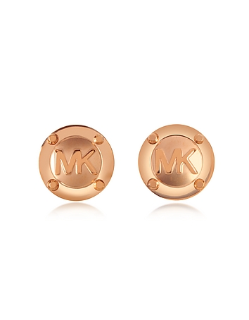 Michael Kors - Heritage MK Logo Stud Earrings