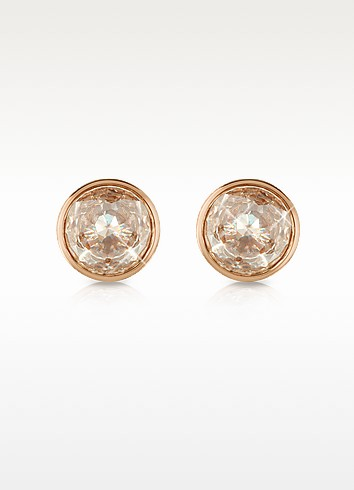 Crystal Rose Gold-tone Stud Earrings - Michael Kors