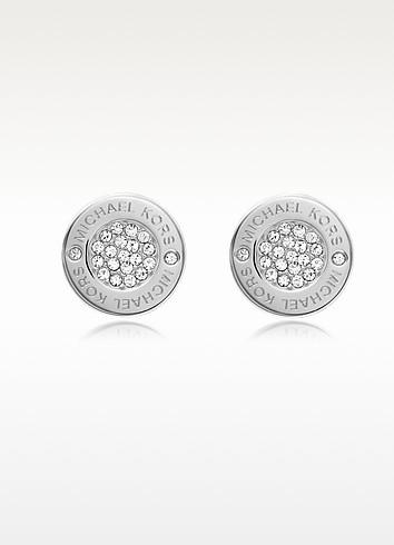 Heritage Pave Stud Earrings - Michael Kors