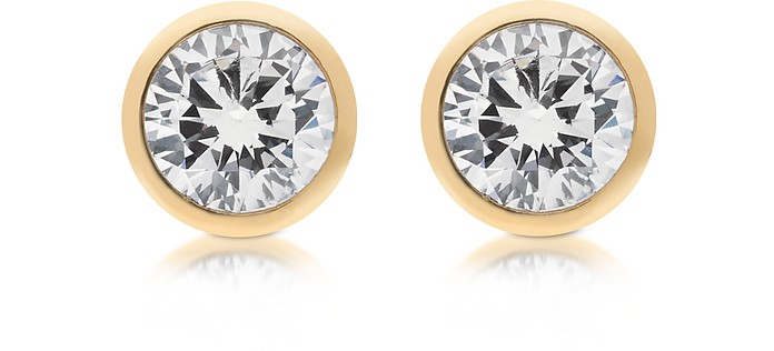 Brilliance Metal and Crystal Stud Earrings - Michael Kors