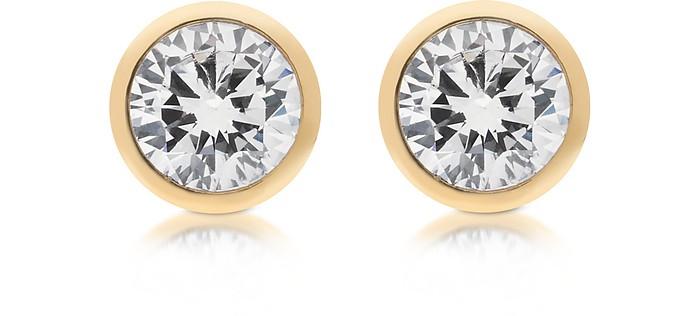 Brilliance Metal and Crystal Stud Earrings - Michael Kors / マイケル コース