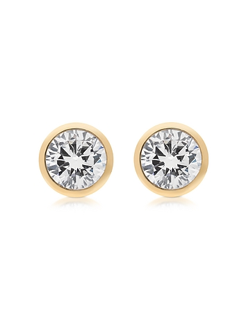 Michael Kors - Brilliance Metal and Crystal Stud Earrings