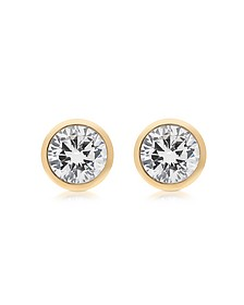 Brilliance Metal and Crystal Stud Earrings - Michael Kors