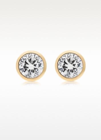 Brilliance Metal and Crystal Stud Earrings - Michael Kors / マイケル コース