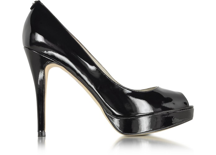 York Black Patent Leather Platform Shoe - Michael Kors