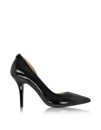 michael kors female natalie black patent leather flex high heel pump