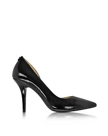 Natalie Black Patent Leather Flex High Heel Pump - Michael Kors
