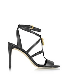 Antoinette Black Leather High Heel Sandals - Michael Kors