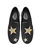 Black Tumbled Leather w/Golden Glitter Stars Pia Slip on Sneakers - Michael Kors