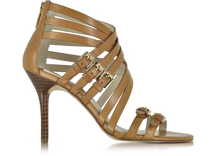 Ava Peanut Leather Sandal - Michael Kors