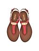 Watermelon Logo Plaque Leather Sandal - Michael Kors