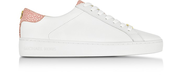 Irving Pale Pink Leather Sneaker - Michael Kors