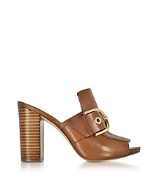 Copper Luggage Nappa Leather Mules - Michael Kors