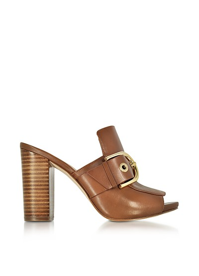 Cooper Luggage Nappa Leather High Heel Mules - Michael Kors