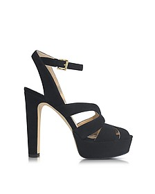 Winona Black Suede Leather Platform Sandal - Michael Kors