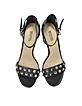 Valencia Black Studded Leather High Heel Sandals - Michael Kors
