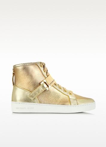 Helen Golden Metallic High Top Sneaker - Michael Kors