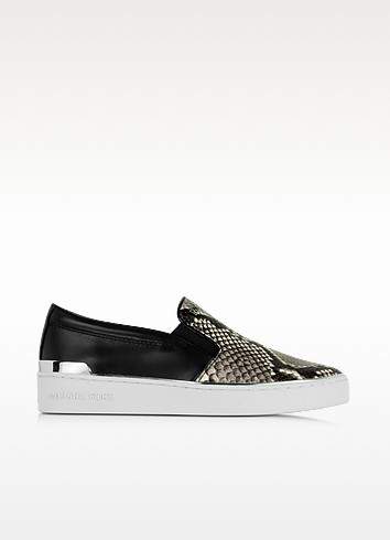 Kyle Embossed Snake Leather Slip On Sneaker - Michael Kors