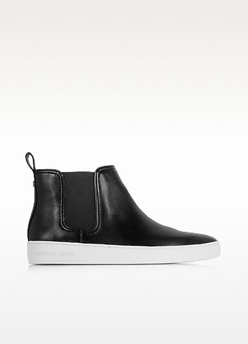 Keaton Black Leather Bootie  - Michael Kors