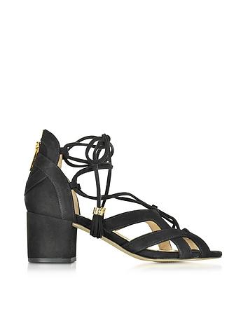 Michael Kors - Mirabel Black Suede Mid Heel Sandal