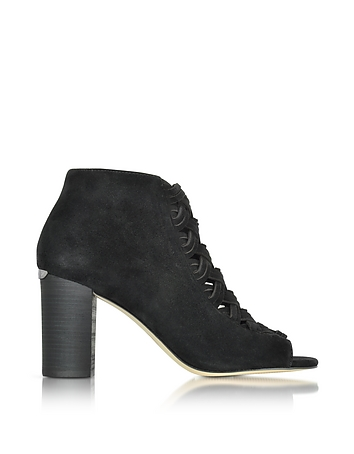 Michael Kors - Westley Peep-Toe Suede Ankle Boot