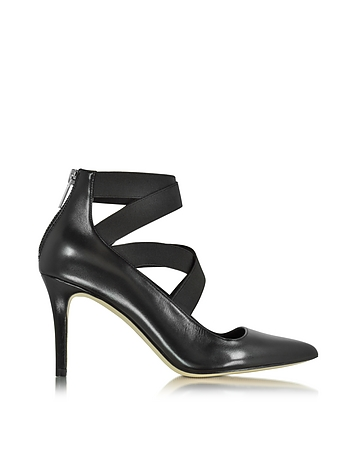 Viva Black Leather Pump