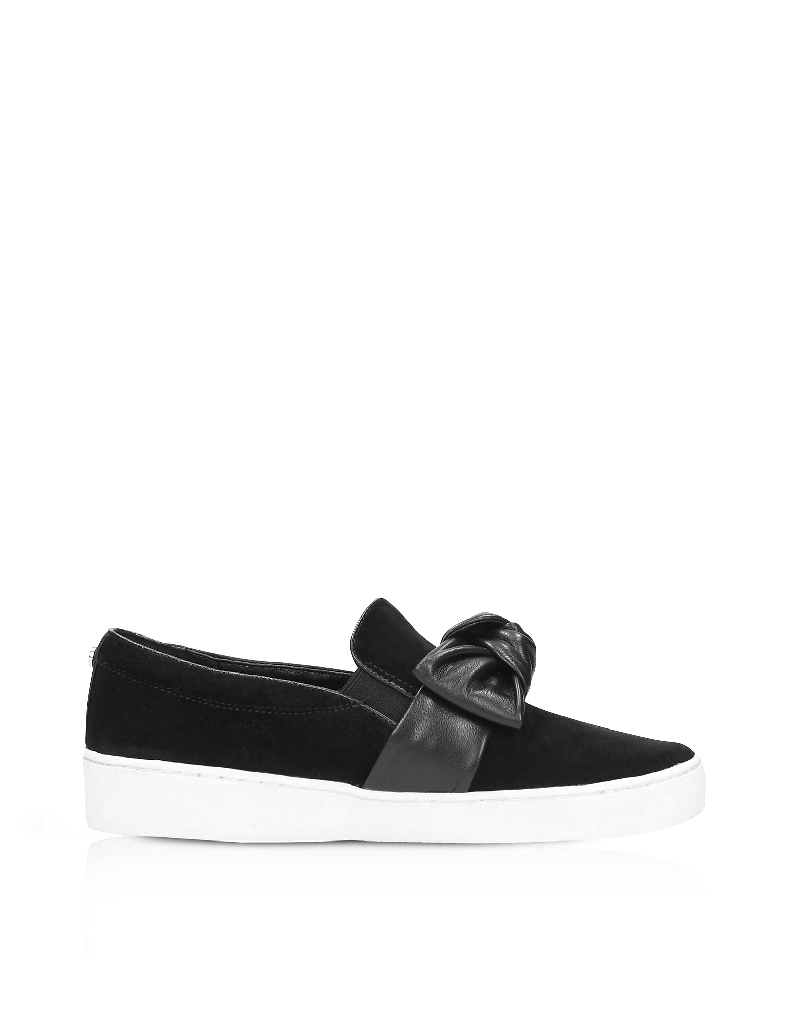 Michael Kors Shoes, Willa Black Suede Slip On Sneakers