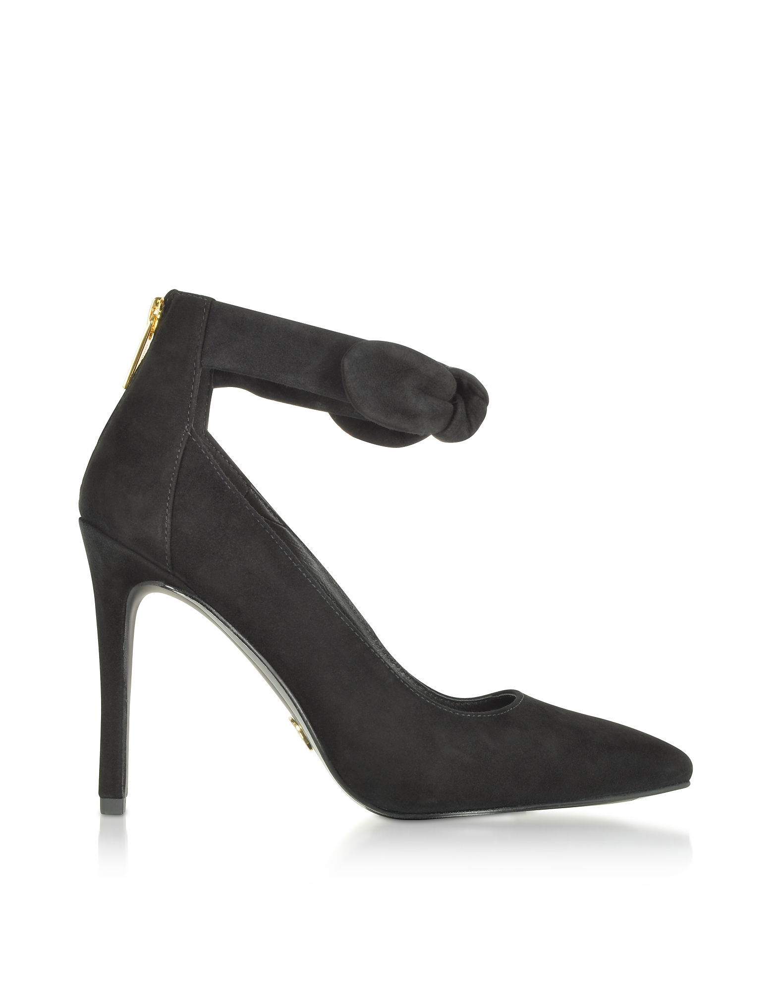 Michael Kors Shoes, Alina Black Suede Heel Pumps