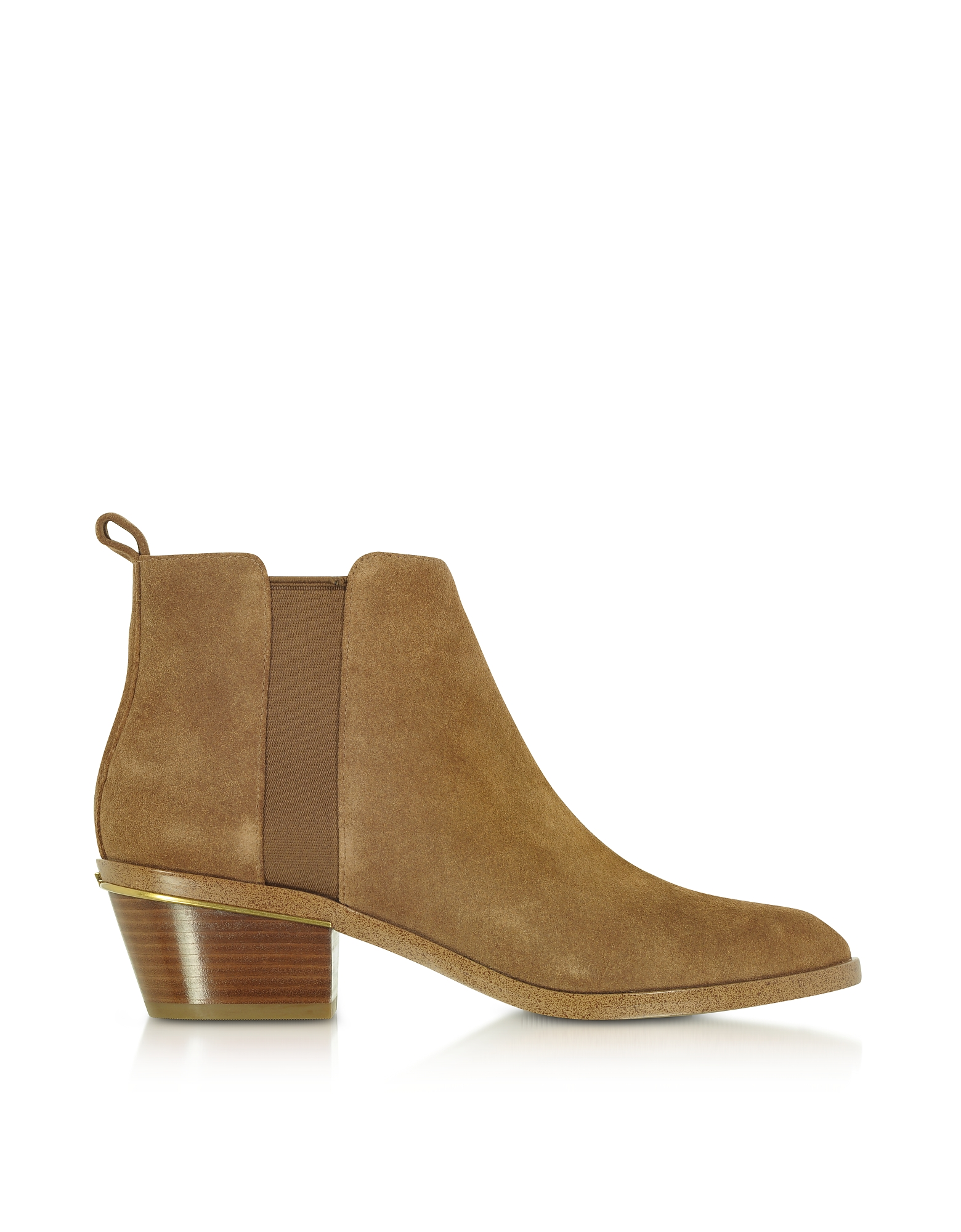 Michael Kors Shoes, Crosby Dark Caramel Suede Mid-Heel Booties
