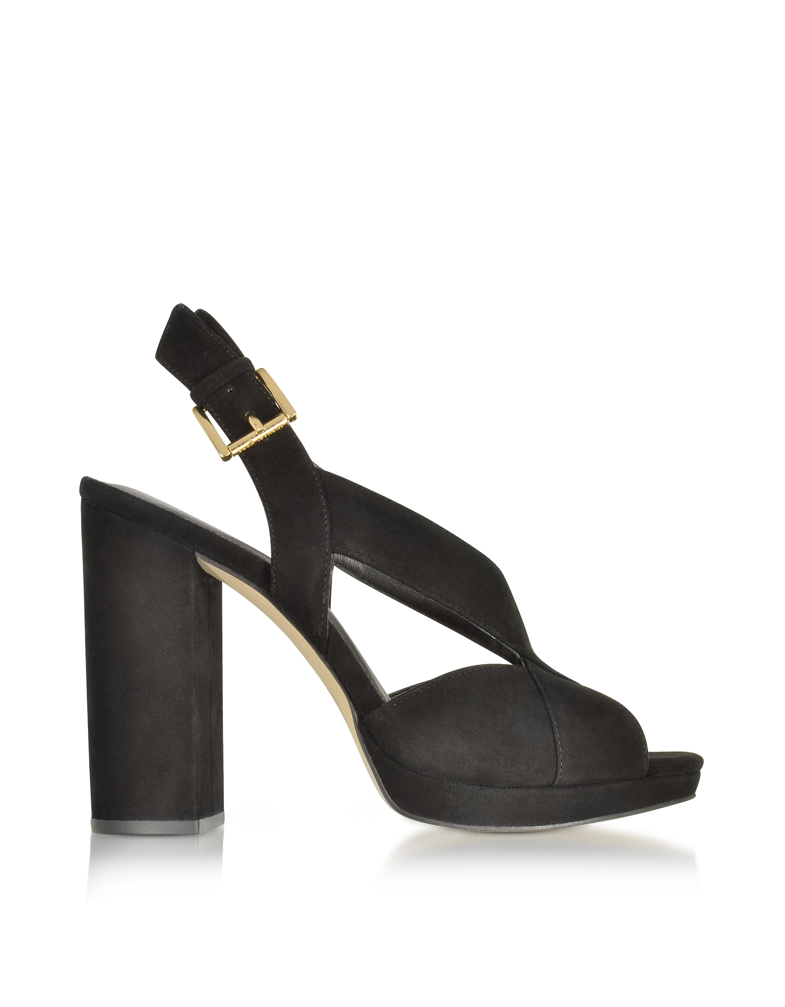Michael Kors Shoes, Becky Black Suede Platform Sandals