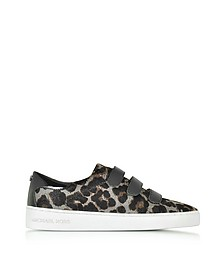 Craig Dark Gray Hair-Calf and Black Patent Leather Sneaker - Michael Kors