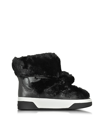 Nala Fur and Calf Hair High-Top Sneaker/Boot