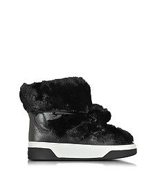 Nala Fur and Calf Hair High-Top Sneaker/Boot - Michael Kors