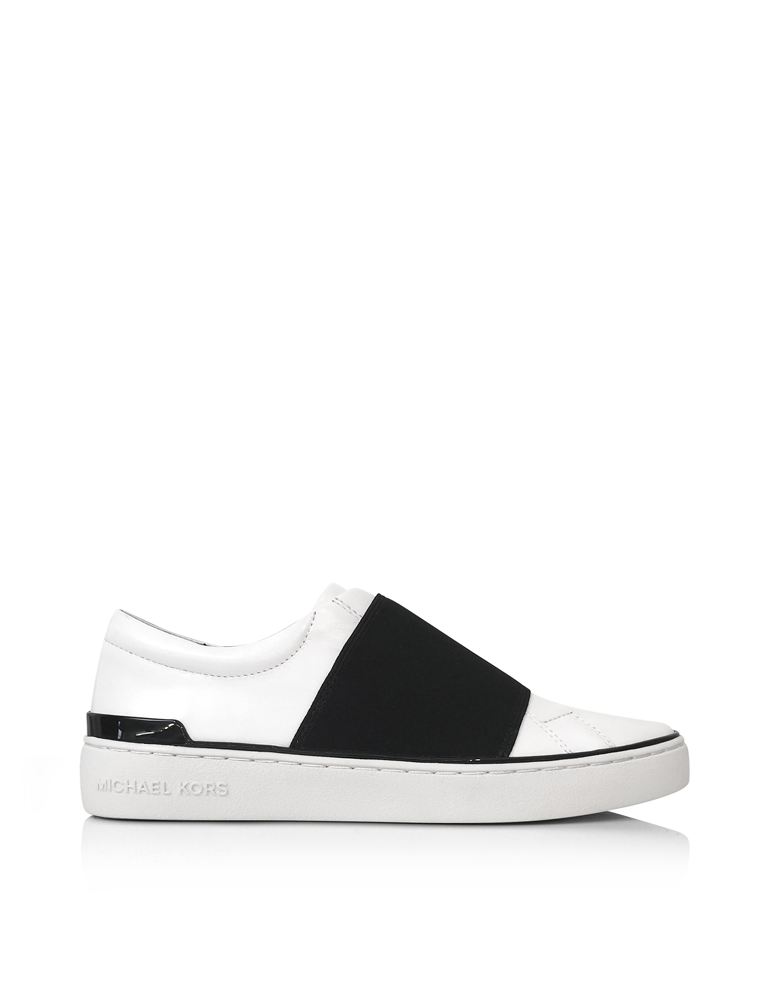 Michael Kors Shoes, Vaughn Optic White Leather Slip On Sneakers