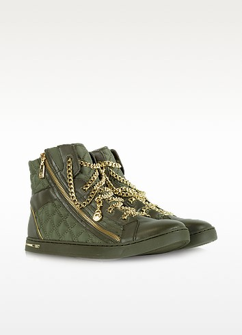Quilted Nylon Urban Chain High Top Sneaker - Michael Kors