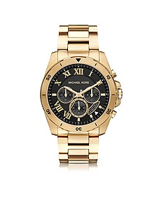 Brecken Goldtone Stainless Steel Men's Cronograph Watch - Michael Kors