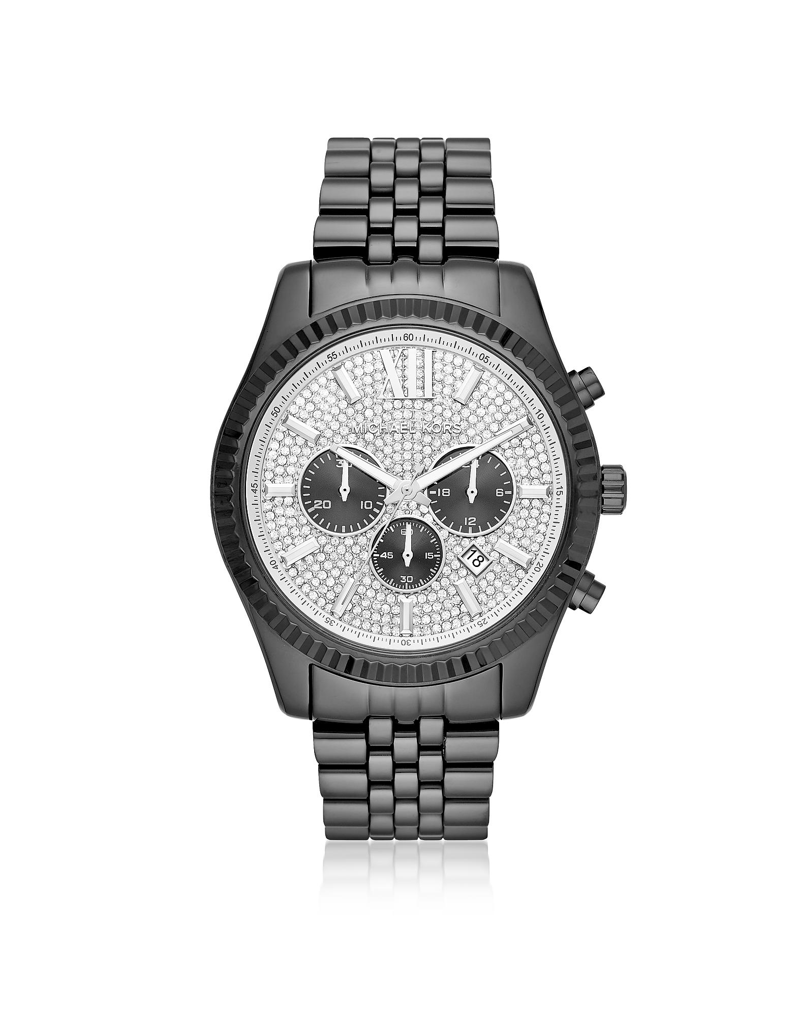 Michael Kors Men's Lexington Black IP Watch