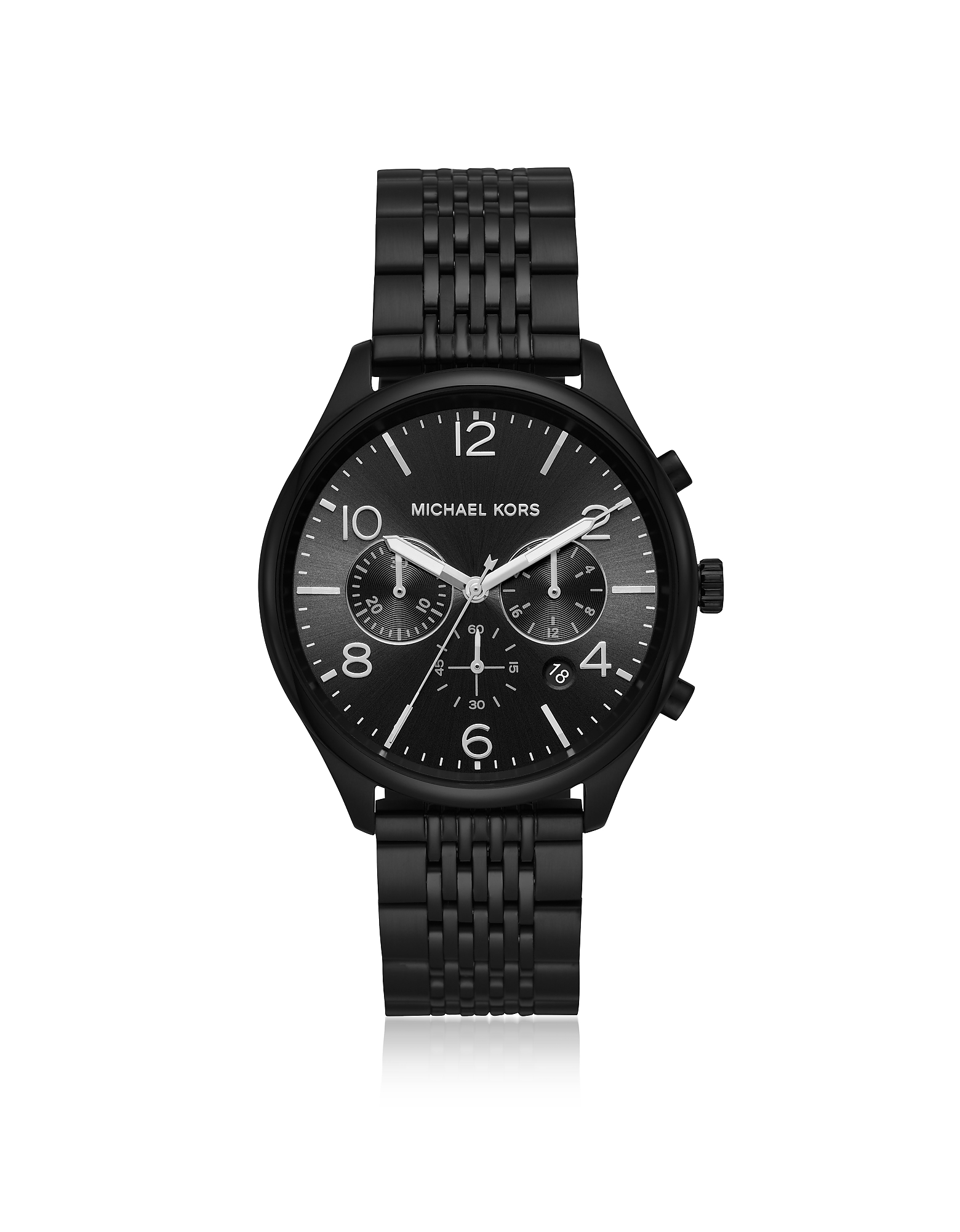Merrick Black Plated Chronograph Watch