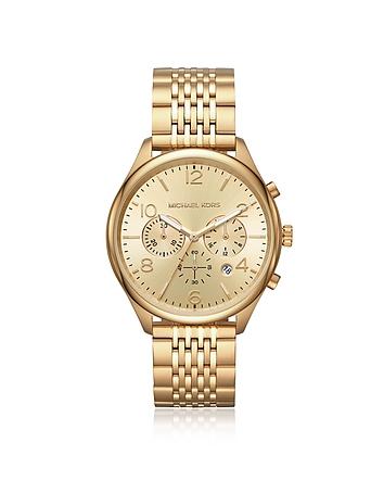 Merrick Gold Tone Chronograph Watch