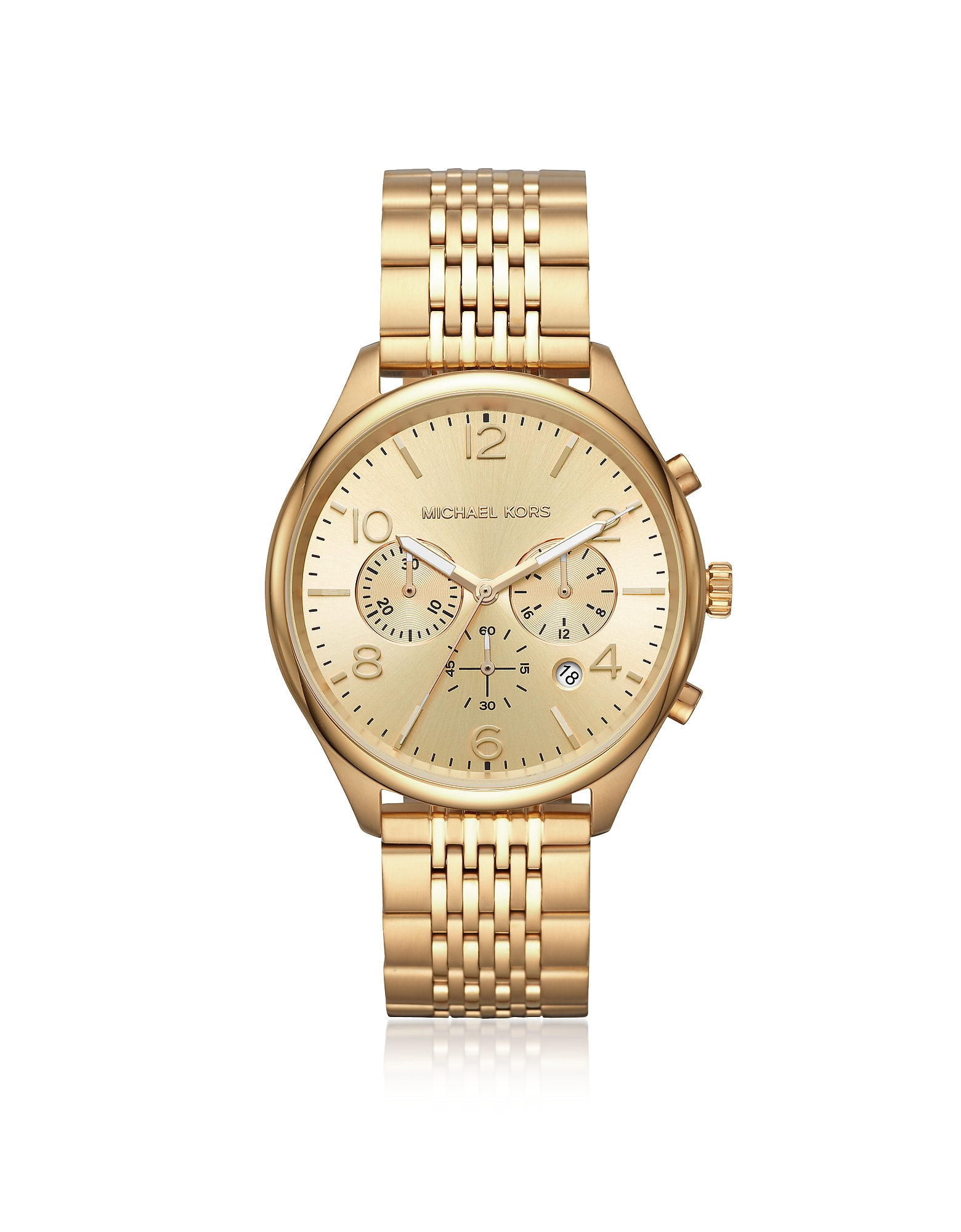 Merrick Gold Tone Chronograph Watch