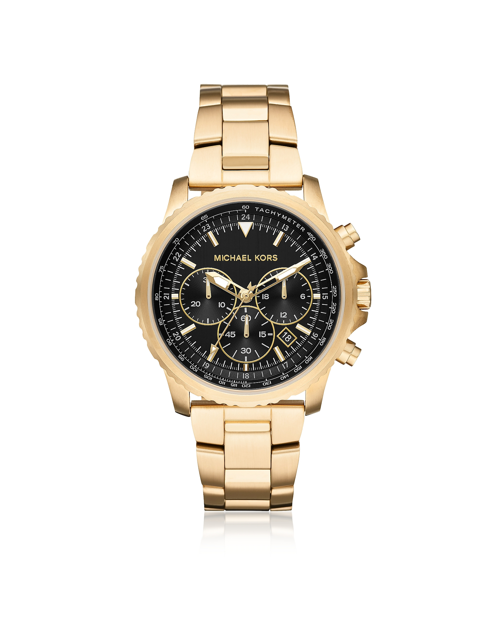 Theroux Gold Tone Chronograph Watch