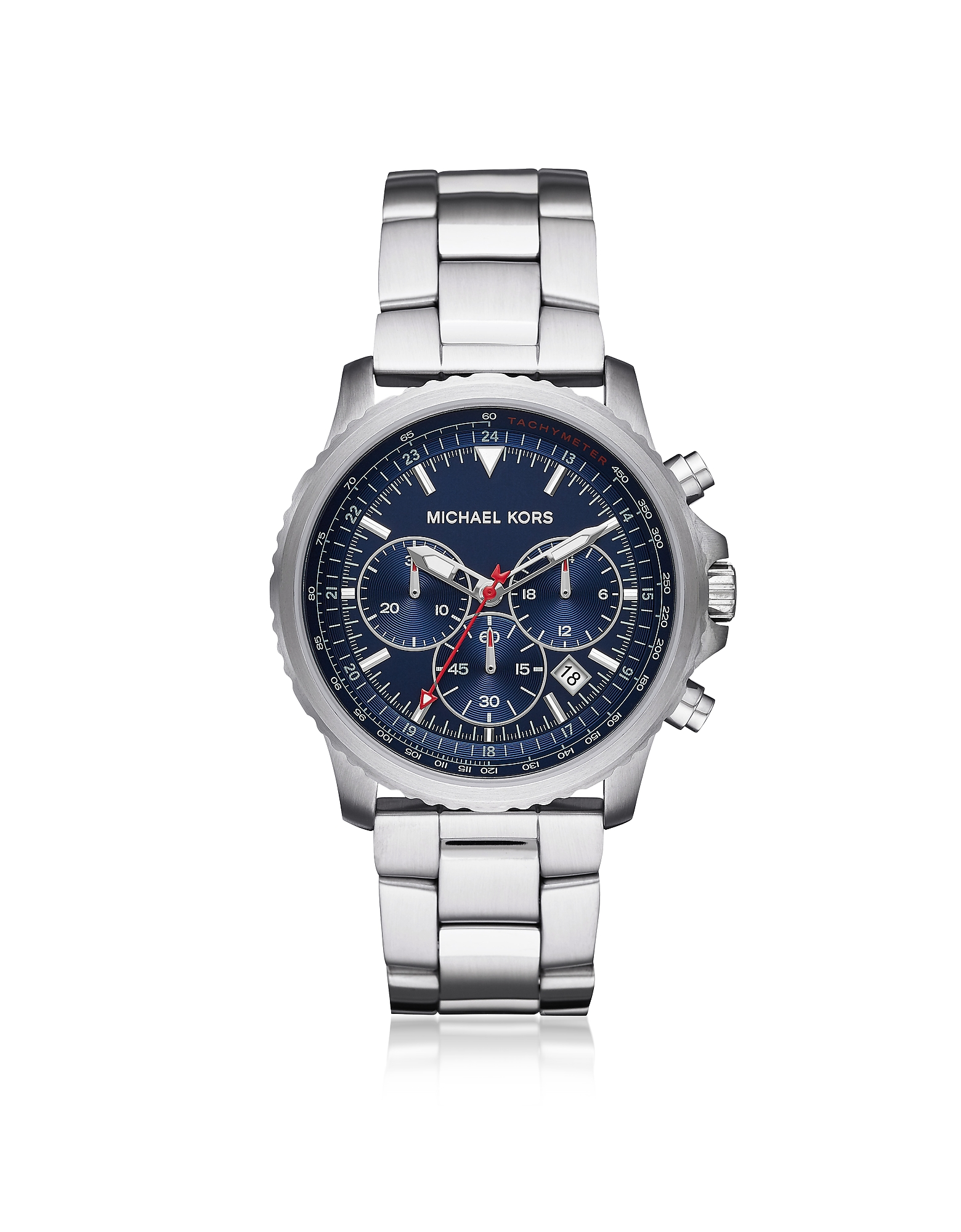 Theroux Stainless Steel Chronograph Watch