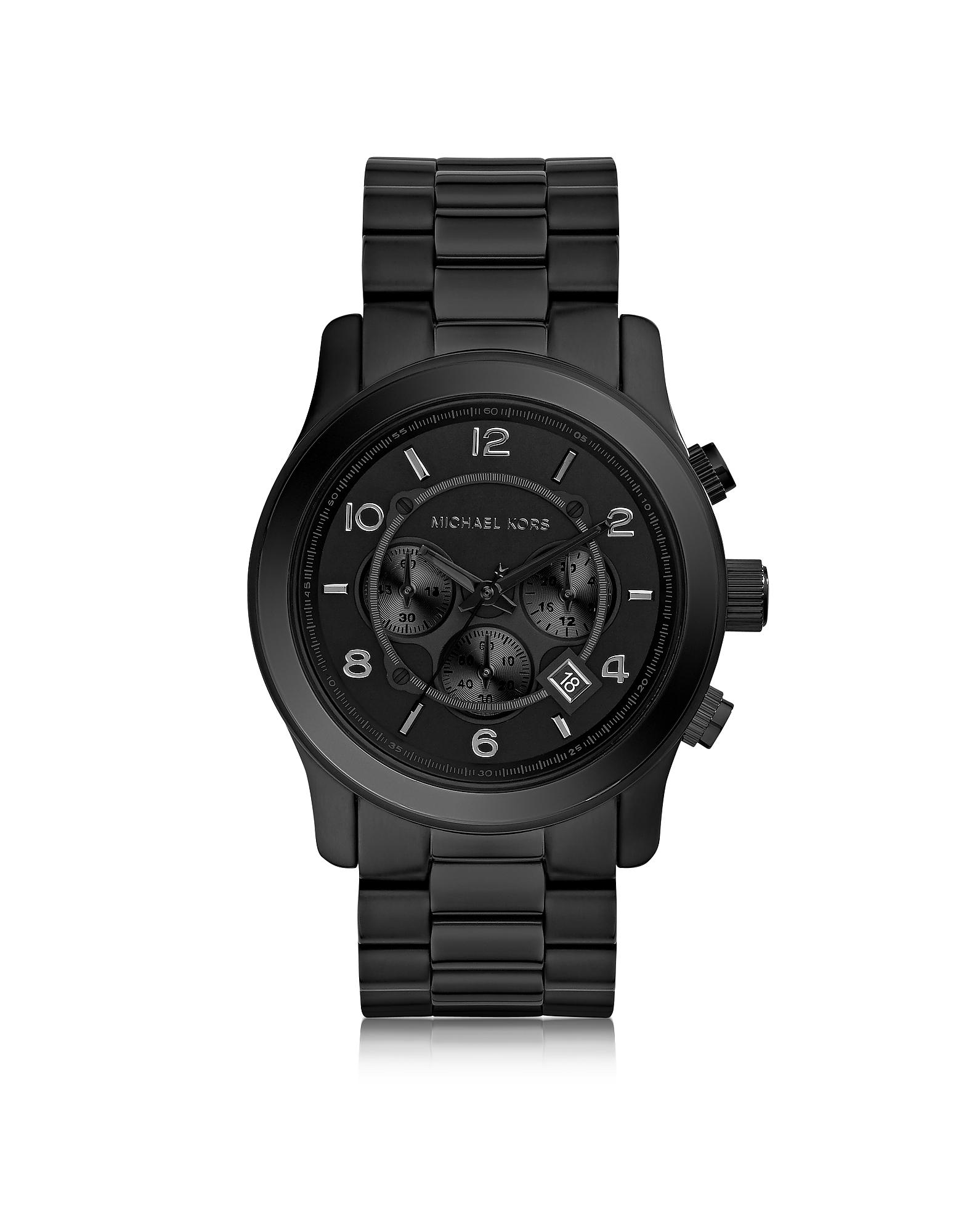 Фото Runway - Черные Мужские Часы Хронограф из Нержавеющей Стали. Купить с доставкой