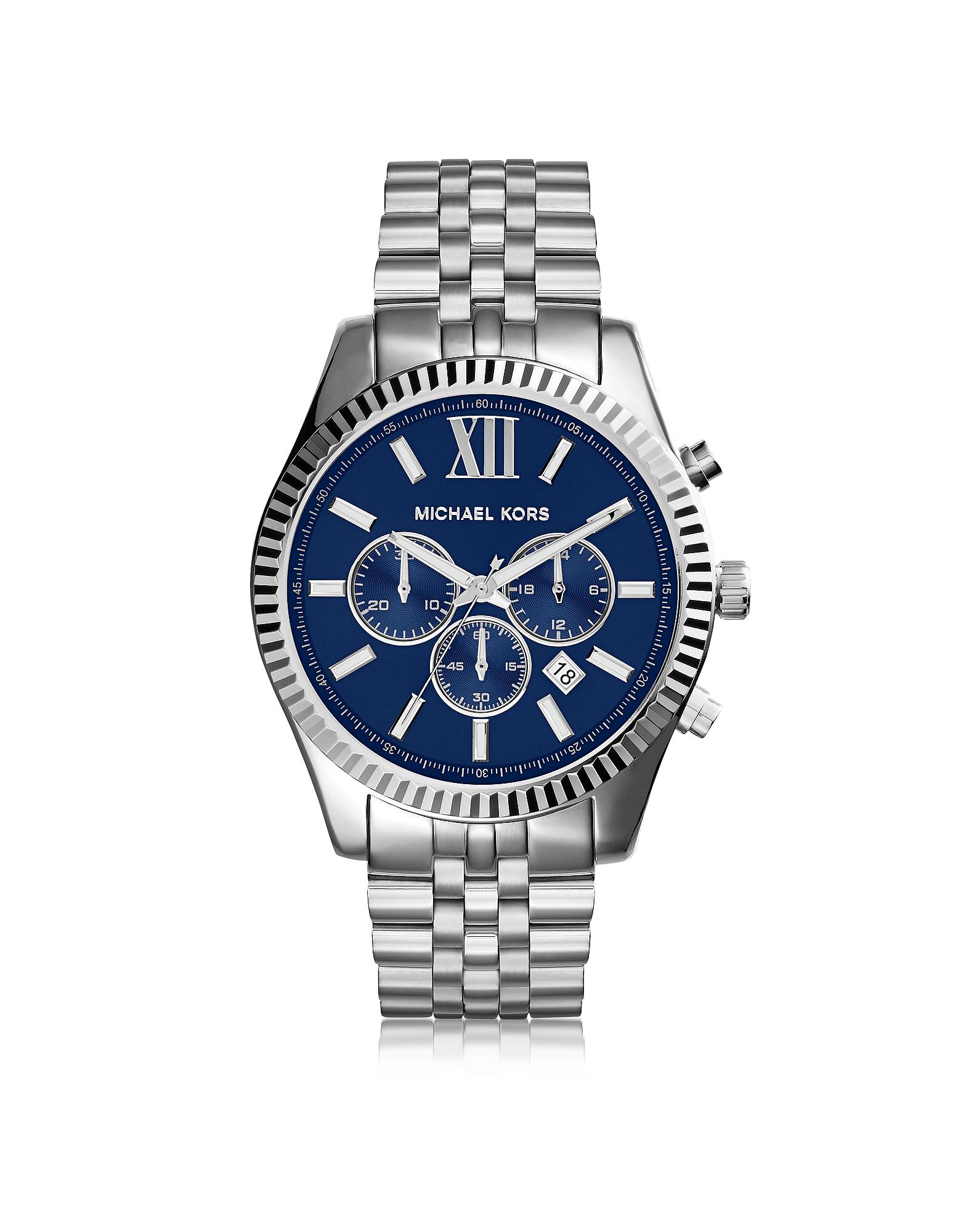 Lexington - Серебристые Мужские Часы Хронограф из Нержавеющей Стали