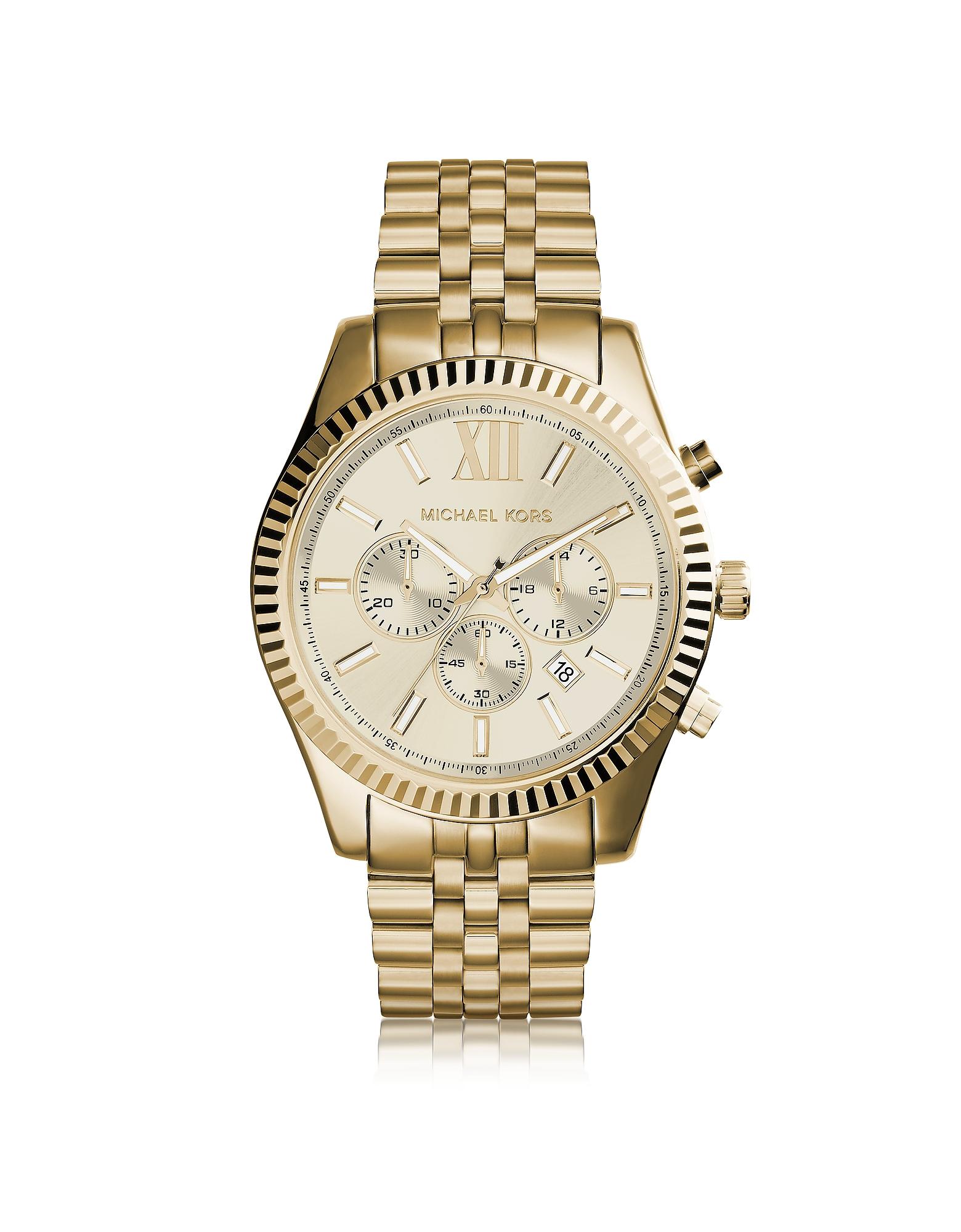 Lexington - Золотистые Мужские Часы Хронограф из Нержавеющей Стали