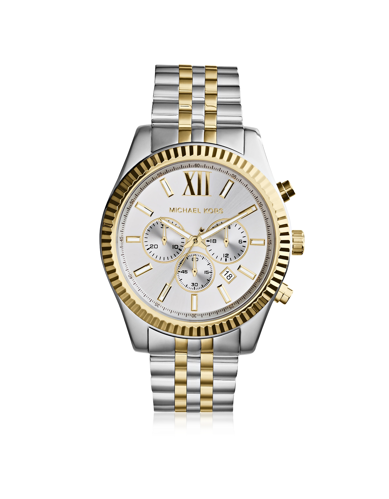 Michael Kors Men's Watches, Lexington Two Tone Stainless Steel Men's Chrono Watch