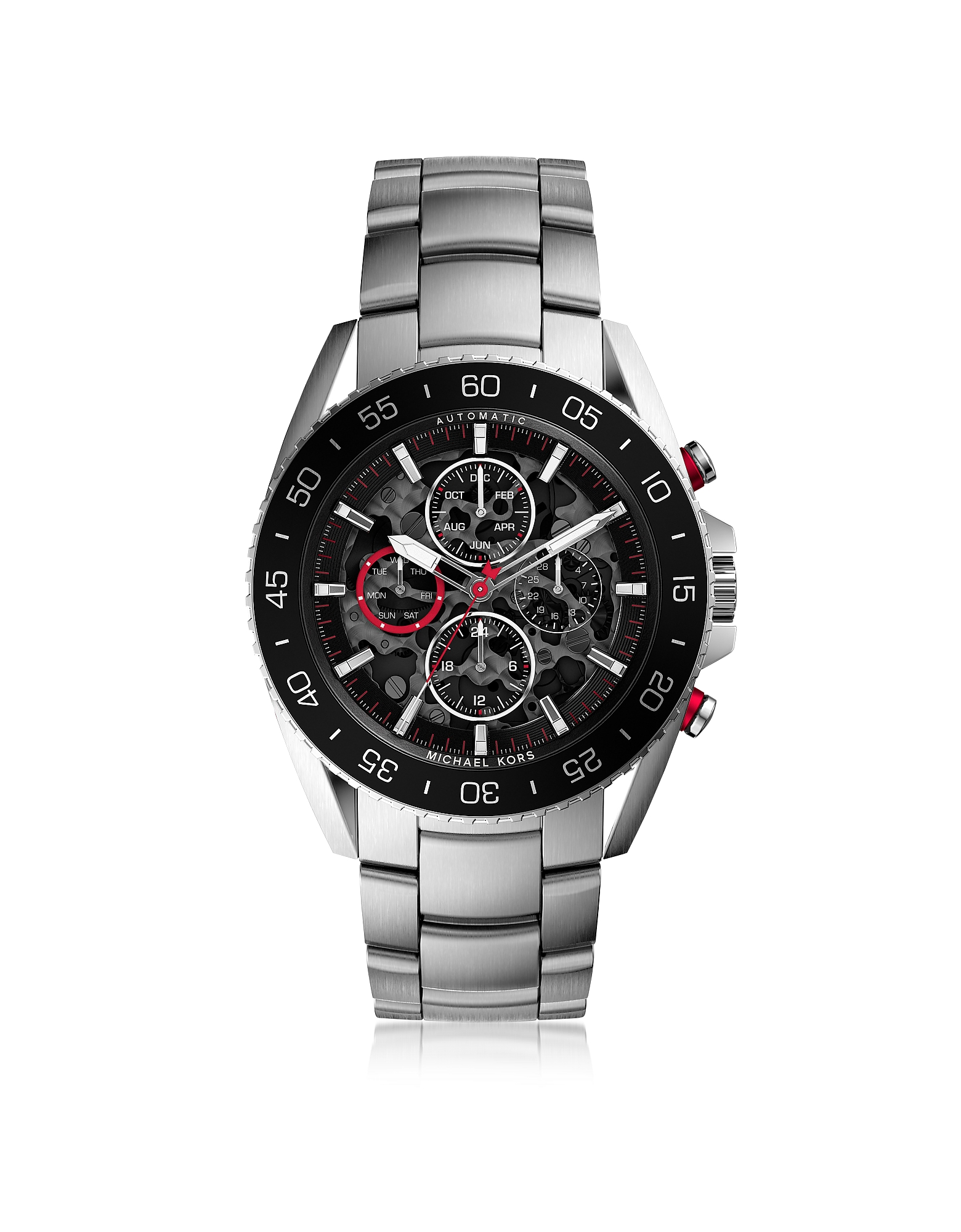 Michael Kors Men's Watches, Jetmaster Silver Tone Stainless Steel Men's Chrono Watch